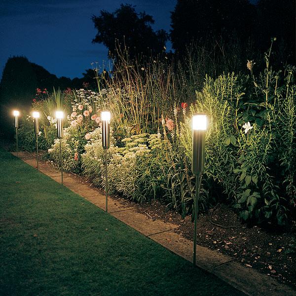Садовые светильники с датчиками движения