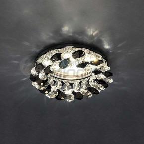 фото Точечный светильник с хрусталем 206 MR16 CH/BK/CL хром/черный/прозрачный