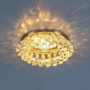 фото Точечный светильник с хрусталем 206 206 MR16 GD/Color золото/перламутр