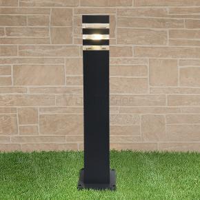 фото Светильник на столбе 1550 TECHNO black черный