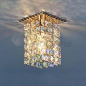 фото Точечный светильник с хрусталем 207 GD/MULTICOLOR (золото/перламутр) Strotskis