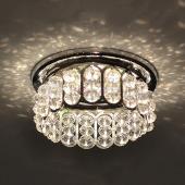 фото Точечный светильник с хрусталем 7241 хром/белый