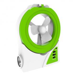 фото Ландшафтный светодиодный светильник+вентилятор Novotech TRIP Белый/Зеленый 357437