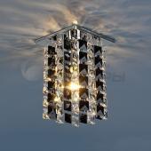 фото Точечный светильник с хрусталем 207 CH/BK/Clear (хром/черный/прозрачный) Strotskis