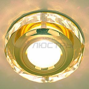 фото Точечный светильник 1056 Clear/GD (зеркальный/золото)
