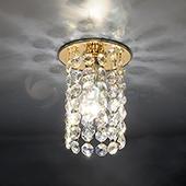 фото Точечный светильник 208 золото/перламутр