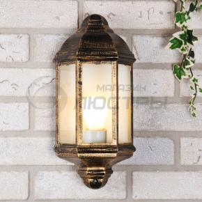 фото Светильник уличный накладной 1804 черное золото