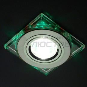 фото Точечный светильник 2080 CH/GR (хром/зеленый)