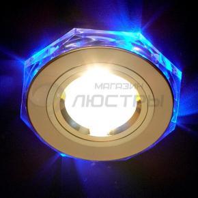 фото Точечный светильник 2020/2 GD/LED/BL (золото/синяя подсветка)