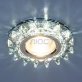 фото Светильник встраиваемый со светодиодной подсветкой 6037 MR16 BL сапфир/хром