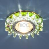 фото Светильник встраиваемый со светодиодной подсветкой 6037 MR16 MLT мульти/хром