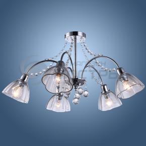 фото Люстра потолочная хрустальная Arte Lamp Silenzio A9559PL-5CC