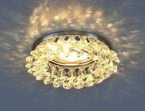 фото Светильник точечный с хрусталем 206 MR16 CH/CL хром/прозрачный