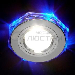 фото Точечный светильник 2020/2 SL/LED/BL (хром/синяя подсветка)