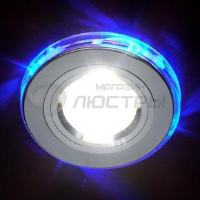 фото Точечный светильник 2060/2SL/LED/BL (хром/синяя подсветка)
