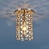 фото Точеченый светильник 208 золото/тонированный/прозрачный