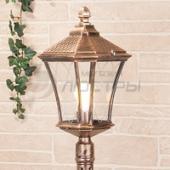фото Светильник уличный столб Virgo F черное золото