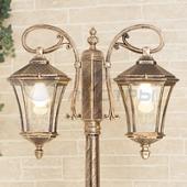 фото Светильник уличный столб Virgo F/2  черное золото
