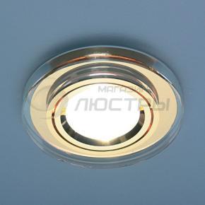фото Точечный светильник 8060 BR CIRCLE/GD (золото/прозрачный круг)