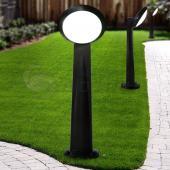 фото Светильник уличный на столбе GABRIREMI/LUCIA1L. Черный. Матовый плафон.