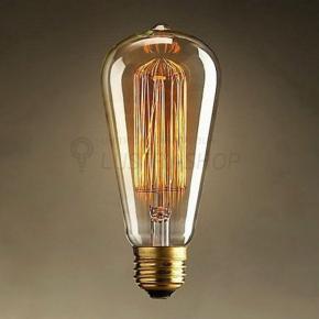 фото Лампа Лофт светодиодная диммируемая Колба 4W Е27