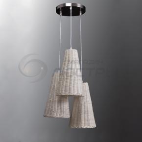 фото Подвесной светильник Н Ротанг 2-6044-3-WH E27