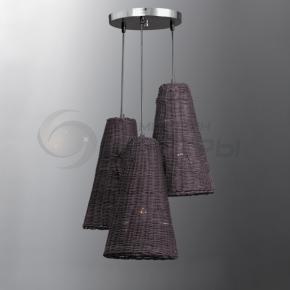 фото Подвесной светильник Н Ротанг 2-6044-3-BR E27