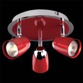 фото Потолочный светильник 23127/3 хром/красный