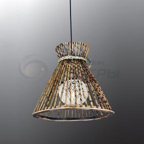 фото Подвесной светильник Н Ротанг 2-0109-1-BR E27