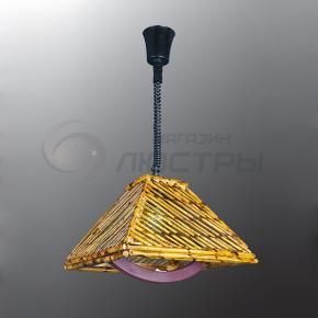 фото Подвесной светильник Н Ротанг 2-0106-1-BR E27