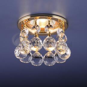 фото Точечный светильник 2051C GD (белый хрусталь/золото)