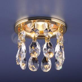 фото Точечный светильник 2055 GD/WH (золото/прозрачный)