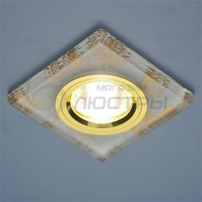 фото Точечный светильник 8571 GD FL/GD (белый / золото)