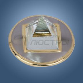 фото Точечный светильник 304A SN/G (сатин-никель/золото)