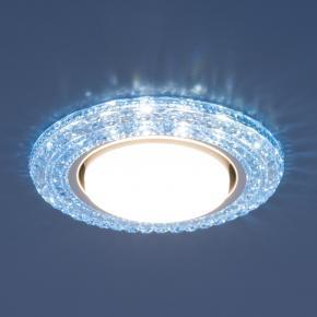 фото Точечный светильник со светодиодами 3030 GX53 BL синий