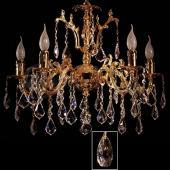 фото Люстра в гостиную Brizzi V 2118/5 OR Tear drop crystal