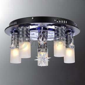 фото Потолочный светильник Г Панель 1-7010-6-BK+CR-LED Y Е27+