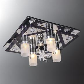 фото Потолочный светильник Г Панель 1-0141-5-CR+BK-LED Y Е27+