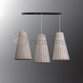 фото Подвесной светильник Н Ротанг 2-6220-3-WH E27
