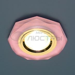 фото Точечный светильник 8020/2 PK/GD (розовый блеск)