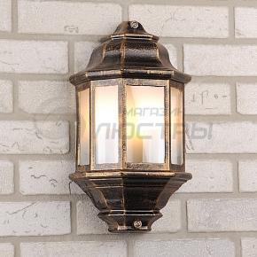 фото Светильник уличный накладной 1808 черное золото
