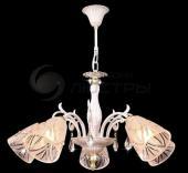фото Люстра подвесная хрустальная 60001/5 белый с золотом/прозрачный хрусталь