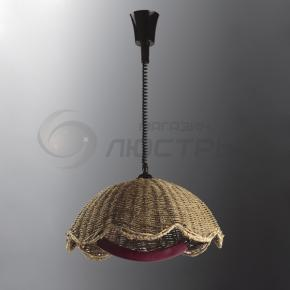 фото Подвесной светильник Н Ротанг 2-0134-1-BR E27
