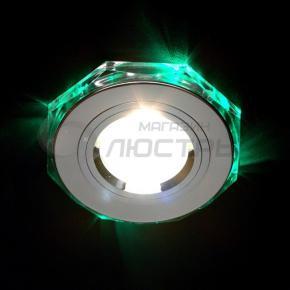 фото Точечный светильник 2020/2 SL/LED/GR (хром/зеленая подсветка)