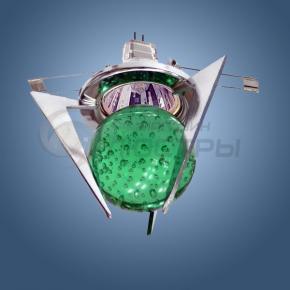 фото Точечный светильник 1782 хром/зеленый