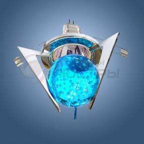 фото Точечный светильник 1782 хром/синий
