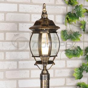 фото Светильник уличный на столб 1043 черное золото