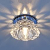 фото Точечный светильник 6237 зеркальный/синий