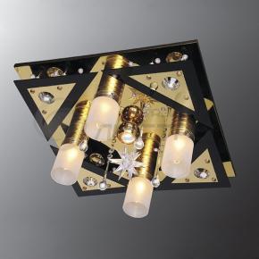 фото Потолочный светильник Г Панель 1-0141-5-FG+BK-LED Y Е27+