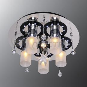 фото Потолочный светильник Г Панель 1-1158-6-CR+BK-LED Y Е27+